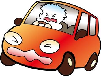 自動ブレーキが予想外に甘いことを知ってびっくりしているドライバー